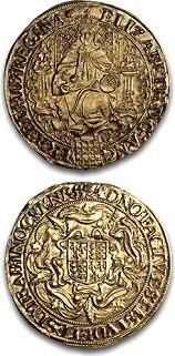 מטבע סוברין, אליזבט הראשונה, 1583-1600